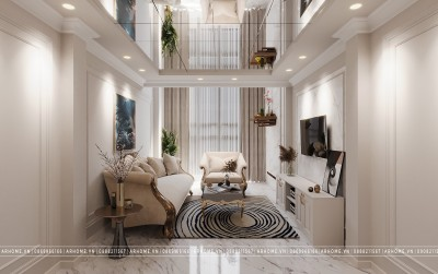 Pha xử lý cực đỉnh trong thiết kế nội thất tân cổ điển biến ngôi nhà nhỏ thành lớn
