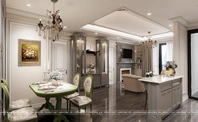 Nét quyến rũ bất tận với mẫu chung cư 100m2 được thiết kế nội thất theo phong cách Tân cổ điển