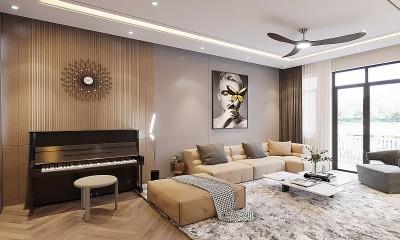 Thiết kế nội thất nhà ở phong cách hiện đại trẻ trung