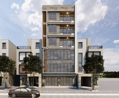 Thiết kế shophouse 6 tầng để ở kết hợp kinh doanh
